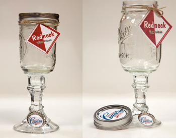 Redneck Wine & Tea Glasses